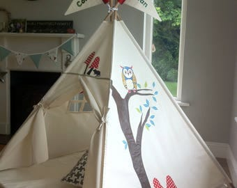 Teepee Tent, kids teepee, Woodland Teepee, Childs play tent,