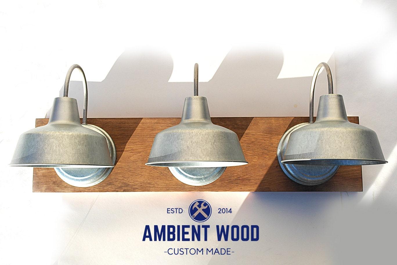 Industrial galvanized steel lights bathroom vanity bar light fixture 1 aloadofball Choice Image