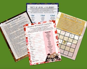 Harry Potter Themed Bachelorette Party Games (4 Activities)