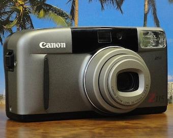 Vintage CANON SURE SHOT Z115 Autofocus 35mm Point & Shoot Film Camera, 38~115mm Zoom Lens, Original Strap, Circa: 1993, Super Condition!