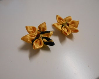 Earrings Kanzashi - handmade