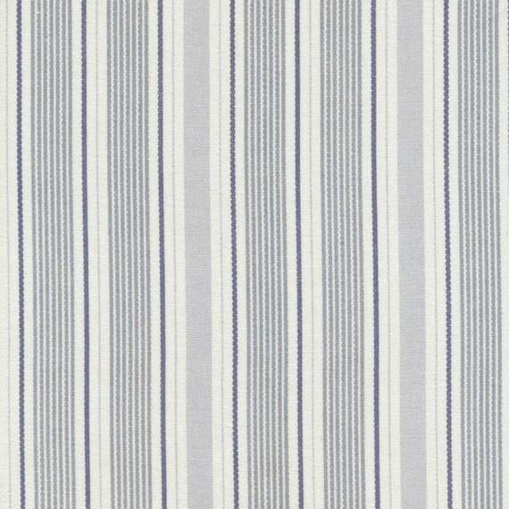 Maison au toile cir e ida poussi reux stripe bleu enduit coton for Au maison toile ciree