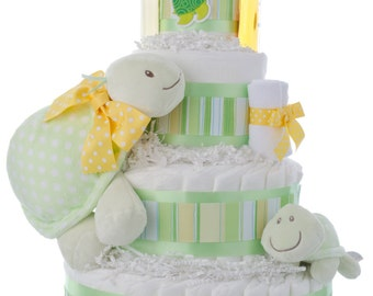 Tubby the Turtle Diaper Cake by Lil' Baby Cakes