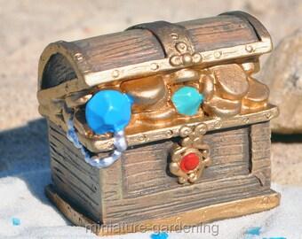 Treasure Chest for Miniature Garden, Fairy Garden