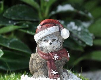Snowflake the Kitten for Miniature Garden, Fairy Garden