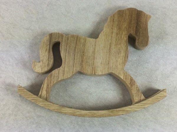 Wooden Rocking Horse Cake Topper