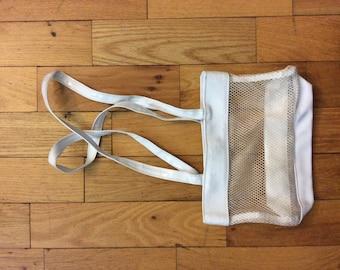 White seethrough purse