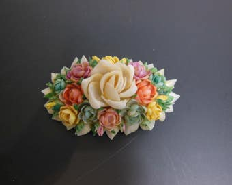 Pretty Celluloid / Seashell Brooch - Celluloid Pin