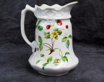 Vintage James Kent Old Foley China Pitcher Strawberry Design