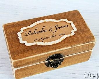Wedding Ring Box Ring Holder ring box Rustic Ring Box Rustic wedding Box Keepsake Moss ring box bearer ring box pillow wedding box