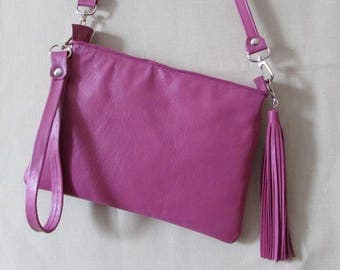 Small  cross body bag  with tassel