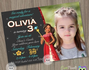 Elena of Avalor Invitation, Princess Elena Invitation, Disney Princess Invitation, Princess Birthday Invitation, Princess Birthday