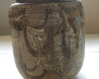 Signed Stoneware Art Vase - Gorgeous!