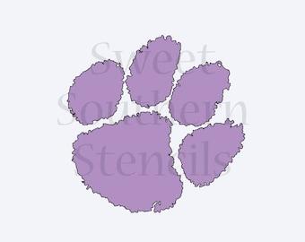 Sports Paw Print Cookie Stencil