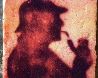 Graffiti Sherlock Coaster or Decor Accent