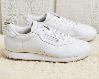 80s Reebok Classics White Low Top Leather Fitness Shoe • 8