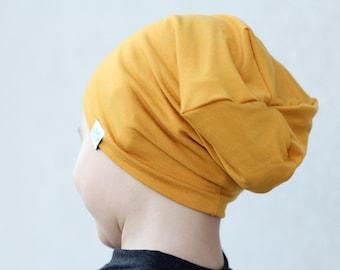 Mustard hipster beanie hat / Mustard slouch beanie / Toddler beanie / Baby boy beanie / Baby slouchy beanie / Hipster baby boy /