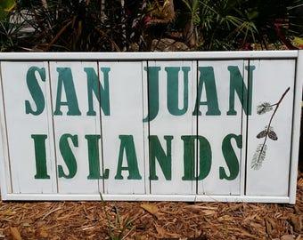 San Juan Islands sign