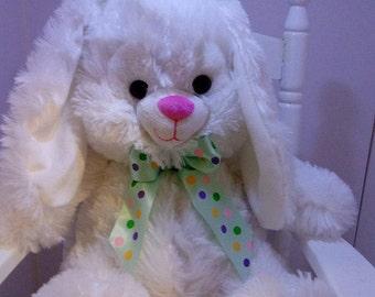 Large Bunny,  Plush Bunny, Baby Shower Bunny, Bunny, Personalized Plush Bunny, Personalized Baby, Shower Bunny, Brown Bunny, White Bunny