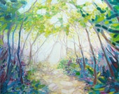 Print on Canvas - Promise Of Spring - A Woodland Path