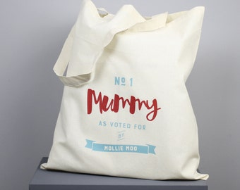Number One Mummy Tote Bag - personalised, tote bag, shopping bag