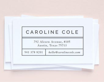 Custom Letterpress Business Cards | Minimal + Systematic | Set of 100