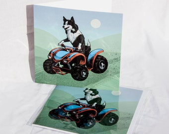 Sheepdog on Quadbike card