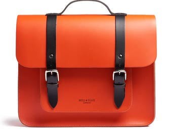Orange & Black Satchel Bike Bag