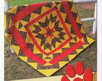 Fiesta Star by Deb's Cats N Quilts --Designer Deb Heatherly -- Lap or Queen Size Quilt Pattern