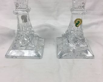 Waterford crystal candlestick set