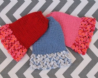 Teeny, Tiny Dog Puppy Kitten Sweater Dress XXXS 1 to 1.5 lbs  Crochet Red Blue Pink for Chihuahua Yorkie Maltese Teacup Pomeranian Puppy
