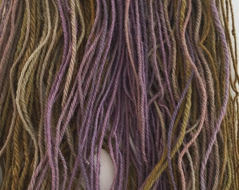 Handspun Alpaca Yarn - Gold and Puple Gradient - Sport Weight - Free Shipping in the Continental US!!