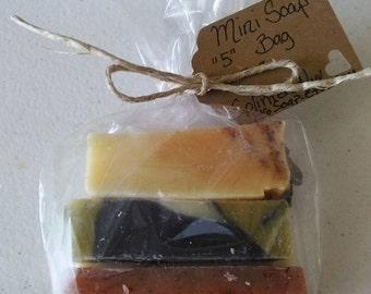 Organic Soap/Mini Soap/Soap Samples/Essential Oil Soap/Handmade Soap/Cold Process Soap/Vegan Soap/Soap Favors/Travel Soap/Bridal Shower Gift