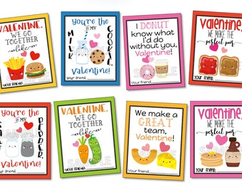 Better Together, We Go Together, We Go Together Like, Together Forever, Valentines Day, Love You Forever, Valentines Tags, Instant Download