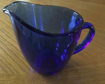 Vintage ANCHOR HOCKING Cobalt Blue Creamer