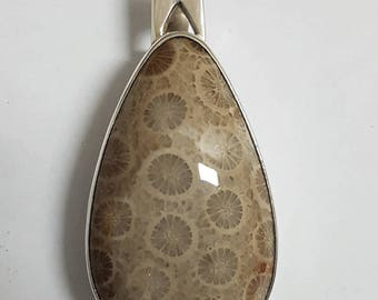 Fossil Coral Pendant #9