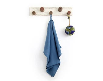 Blue linen tea towel - Dish towels - Kitchen towel - Perfect gift idea