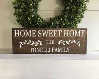 Home sweet home sign home sweet home home sweet home wood for New home sign