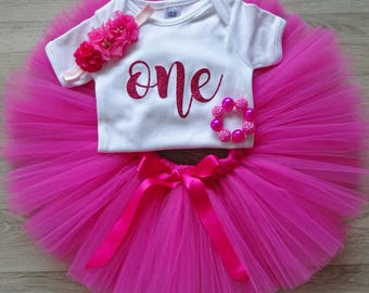 First Birthday Outfit Girl- Cake Smash Outfit Girl- First Birthday Girl- Baby Girls 1st Birthday Outfit- Cake Smash Set- Baby Tutu- Tutu Set