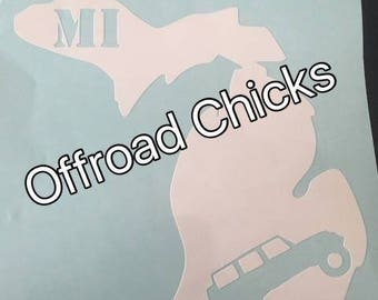 Michigan Jeep Decal