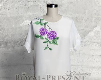 Machine Embroidery Design Bouquet of roses - 3 sizes