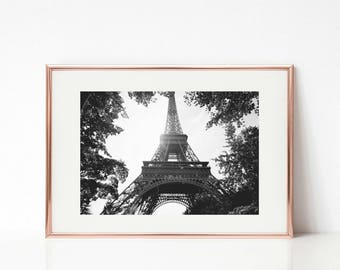 Paris Photography, Eiffel Tower Wall Prints, 30x45 Large Wall Art, Paris Decor, Black and White, Paris Prints, Paris Gallery Wall Prints