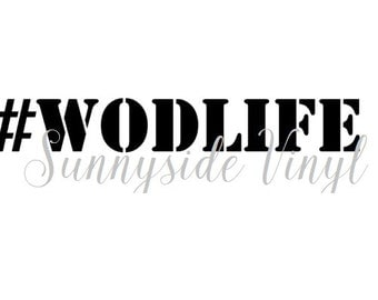 WOD LIFE decal