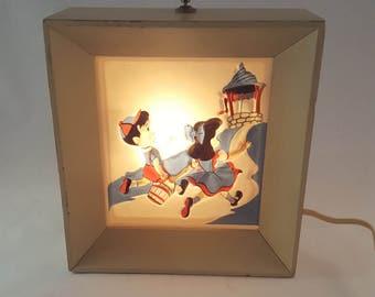Jack and Jill Night Light - Vintage Nursery