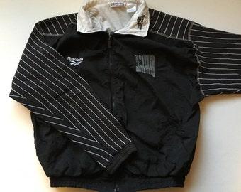 Reebok Shaq Vintage Jacket 90's  Black and White Size Medium