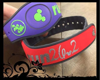 Run Disney Magic Band Personalized Vinyl Decal Quick To Ship - Magic band vinyl decals