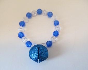 Christmas Jingle Bell Beaded Stretch Bracelet/ Christmas Gift/ Gifts for girls/ Gifts for her/ Gifts for kids/ Jingle Bell Bracelet