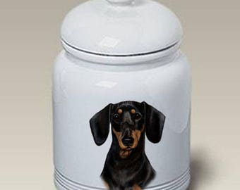 Dachshund Ceramic Treat Jar