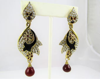 Indian Jewelry - Indian Earrings / Bollywood / Rajasthani Jewelry