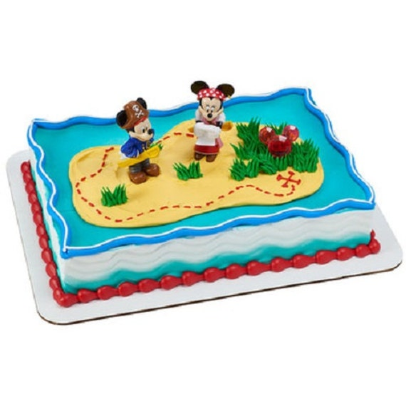 Mickey mouse minnie mouse pirates cake topper decoration set for Decoration maison mickey